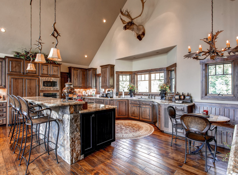Antler Chandeliers kitchen