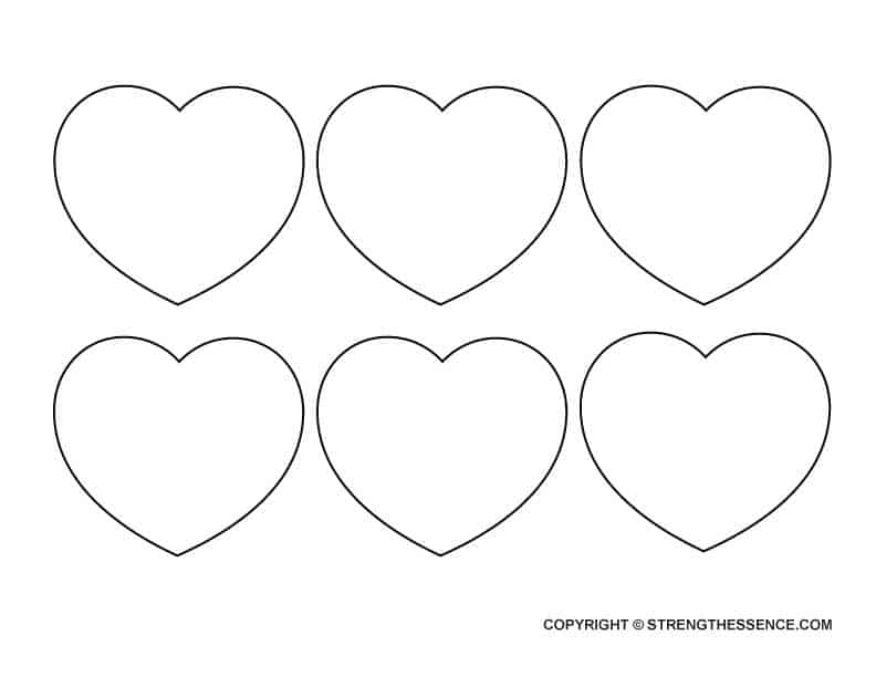 FREE Traceable Medium Heart Template Stencils