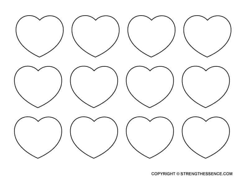 FREE Printable Small Heart Stencil Cutouts Template